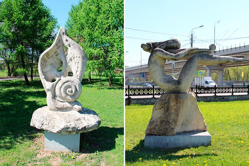 Скульптуры «Гармония природы» и «Муза»