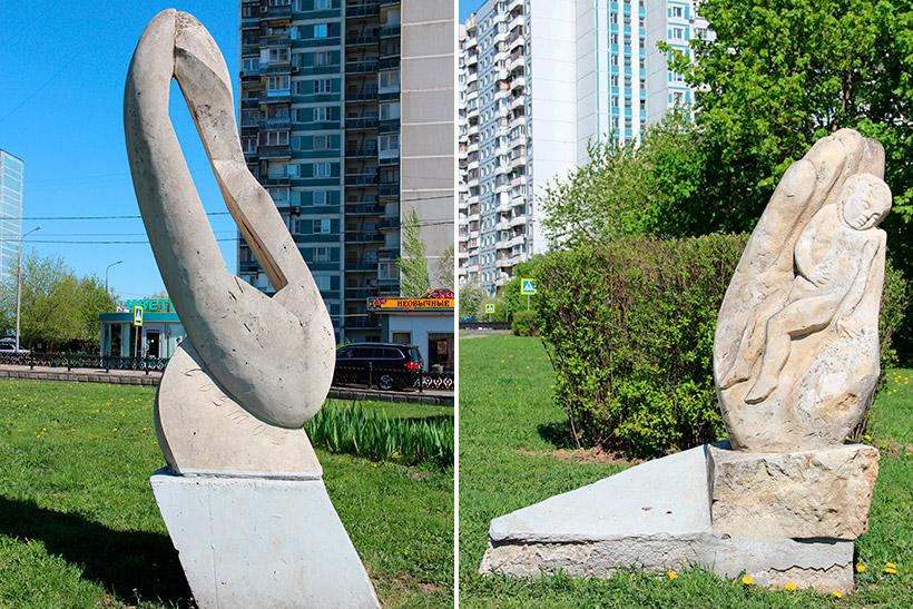 Скульптуры «Космос» и «Колыбельная»