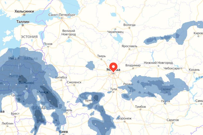 Погода на карте от Яндекс