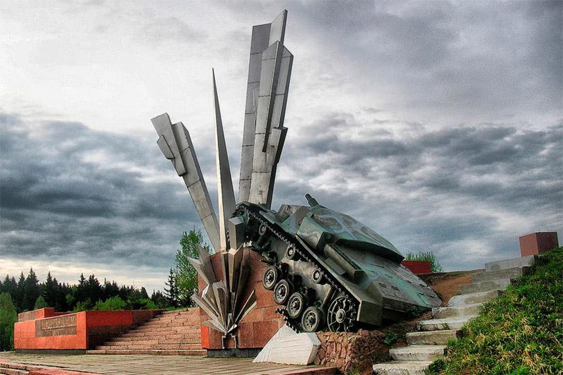 Памятник «Взрыв» на 114-м километре Волоколамского шоссе