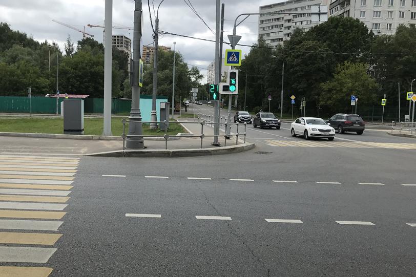 Пешеходный переход на Рублевском шоссе