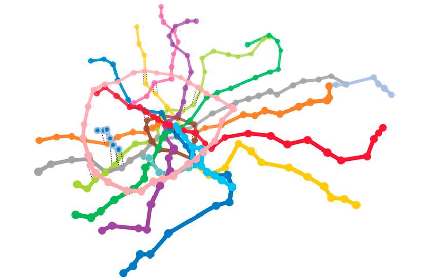 Модель Московского метро в 3D