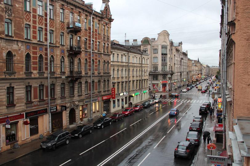 Вид из окна отеля Акварели