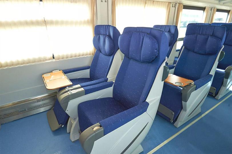 Фотография вагона поезда «Ласточка»